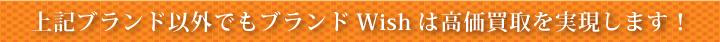 上記ブランド以外でもブランドWishは高価買取を実現します!